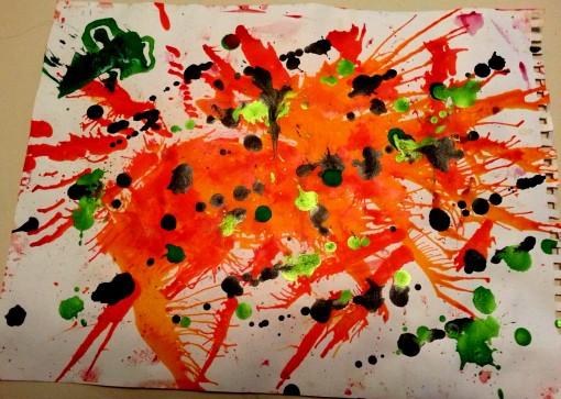 Orange mess